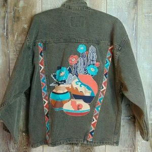 Vintage Levi's Brand Blue/Brown Denim Jacket